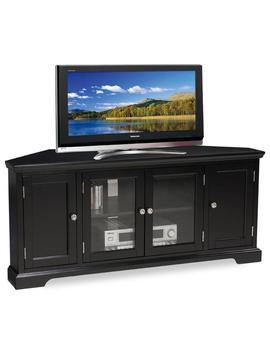 Slate Black Hardwood 60 Inch Corner Tv Console   N/A by Kd Furnishings