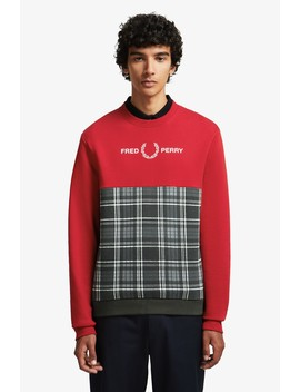 Sweatshirt Mit Schottenkaro Panel by Fred Perry