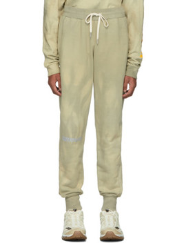 Beige & Green Cat Edition Double Dye Lounge Pants by John Elliott