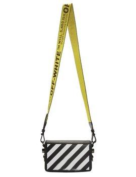 Flap Diag Mini Black/White Saffiano Leather Cross Body Bag by Off White™