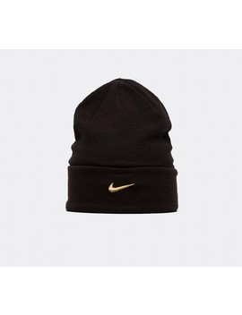 Swoosh Beanie | Black / Gold by Nike