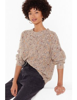 Knit By Knit Crew Neck Sweater by Nasty Gal