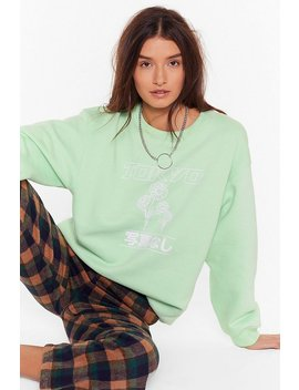 Left My Heart In Tokyo Relaxed Sweatshirt by Nasty Gal