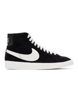 Black Suede Blazer Mid Vintage Sneakers by Nike