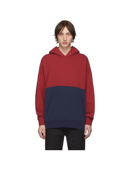 Blue & Red Switch Jumbo Hoodie by Visvim