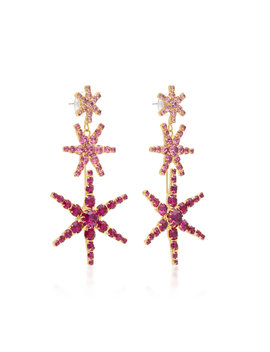 Exclusive Gold Tone And Crystal Earrings by Jennifer Behr