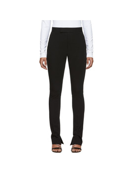 Black Rider Leggings Trousers by Helmut Lang