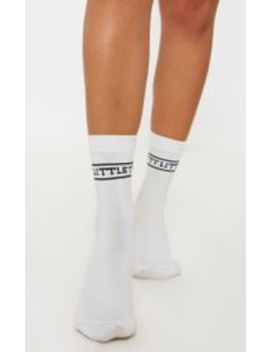 Prettylittlething   Chaussettes De Sport Blanches by Prettylittlething