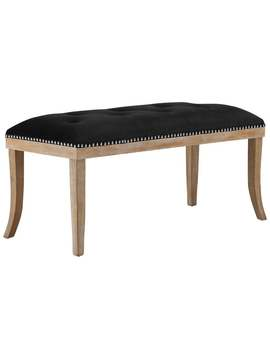 Expression Upholstered Fabric Bench   Black by Modway