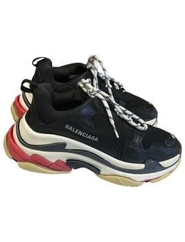Triple S Leather Trainers by Balenciaga