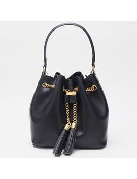 Ensso   Genuine Leather Tasseled Bucket Bag by Ensso