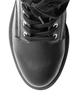 Gryffin Leather Combat Boots by Steve Madden