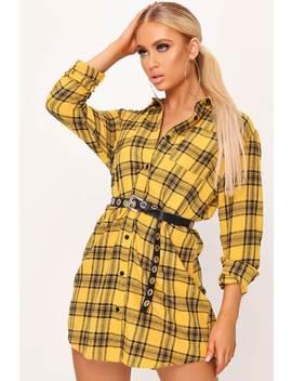 Mustard Check Shirt Dress by I Saw It First