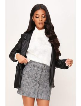 Grey And White Check Print Mini Skirt by I Saw It First