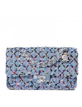 Chanel Woven Denim Medium Flap Multicolor by Chanel