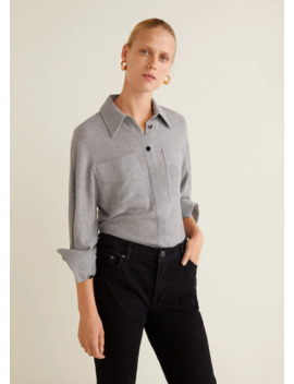 Рубашка с накладными карманами by Mango