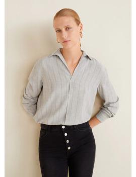 Струящаяся блузка в полоску by Mango