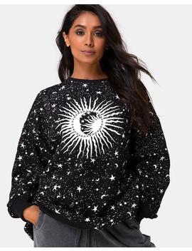 Shine Sweatshirt In Black Cosmos By Motel by Motel