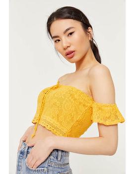 Crochet Crop Off Shoulder Top by Ardene