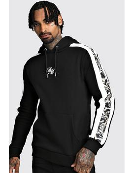 B&M Oth Fleece Hoodie With Baroque Panels by Boohoo