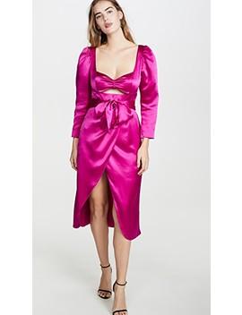 Tiffany Satin Draped Dress by Viva Aviva