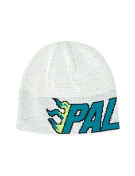 Palace Flame Grill Beanie White by Stock X