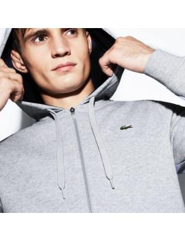 Sweatshirt Zippé à Capuche Tennis Lacoste Sport En Molleton Uni by Lacoste