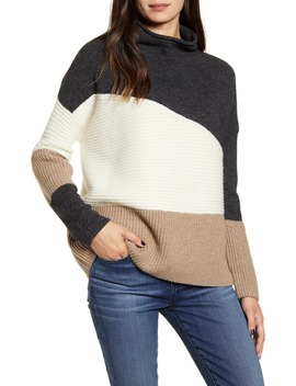 Patchwork Funnel Neck Sweater by French Connection