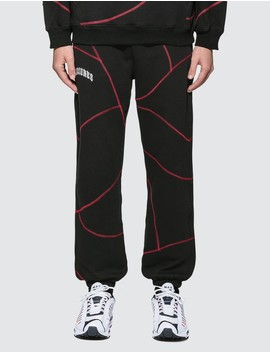 Destroyer Contrast Stitch Sweatpants by Pleasures