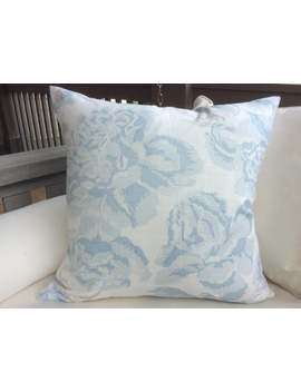 """Christopher Farr """"Peonies"""" In Pale Blue Pillow Covers by Etsy"""