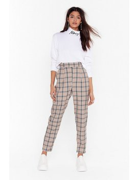 Grid Them What They Want Plaid Jogger Trousers by Nasty Gal