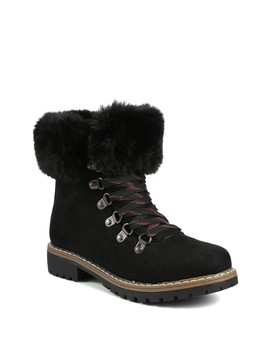 Hershey Faux Fur Cuff Lace Up Boot by Catherine Catherine Malandrino