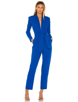 Benjamin Jumpsuit In Blue by Karina Grimaldi