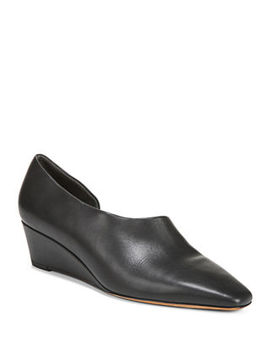 Barolo Asymmetric Napa Wedge Loafers by Vince