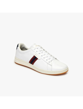 Men's Carnaby Evo Tricolor Leather Sneakers by Lacoste