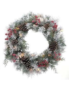 St. Nicholas Square® Snowflocked Pinecone Wreath by St. Nicholas Square