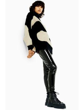 Idol Black Skinny Vinyl Trousers by Topshop