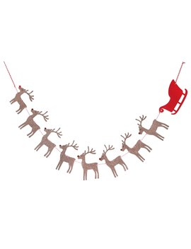 6ft. Brown & Red Reindeer Sleigh Garland By Ashland® by Ashland
