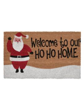 Liora Manne Natura Ho Ho Home Indoor Outdoor Coir Doormat   18'' X 30'' by Liora Manne