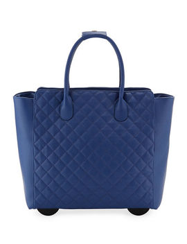 Kc Jagger Camilla Quilted Top Handle Rolling Travel Bag by Kc Jagger