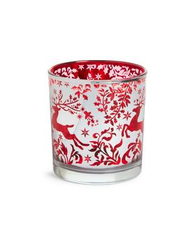 Christmas Glass Tealight Holder by Primark
