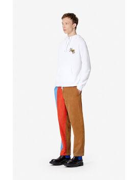 Corduroy Colourblock Trousers by Kenzo
