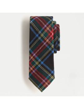 Wool Tie In Stewart Tartan by J.Crew