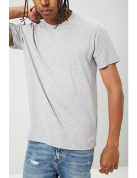 Basic Heathered Slim Fit Tee by Forever 21
