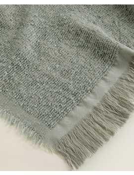 Fringed Textured Blanket  Blankets   Living Room by Zara Home
