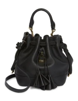 The Drawstring Leather Bucket Bag by Marc Jacobs