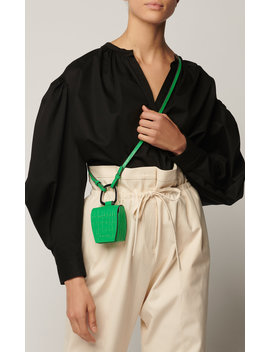 Embossed Leather Box Bag by Danse Lente