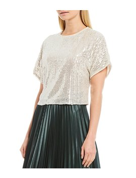 Matte Satin Pleated A Line Midi Skirt by 1. State