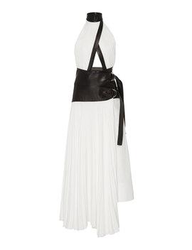 Pleated Linen Wrap Dress by Proenza Schouler