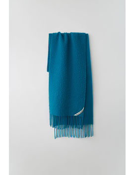 Pilled Textured Scarf Ocean Blue by Acne Studios